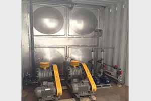 Containerized Sewage Treatment Plant, A+MBR